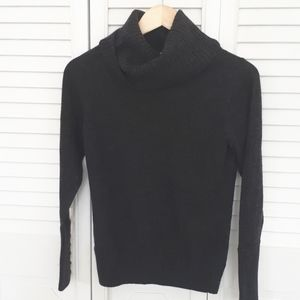 Tweeds merino wool.  Dark grey cowl neck.  Medium